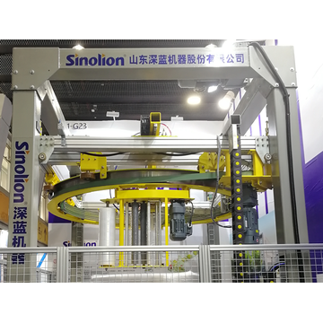 High speed rotary ring wrapping machine