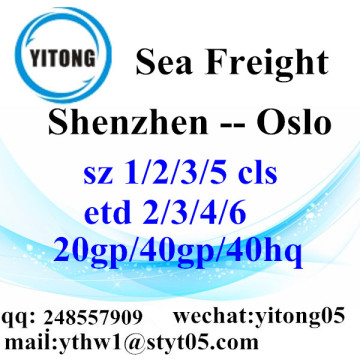 Shenzhen Sea Freight to Oslo
