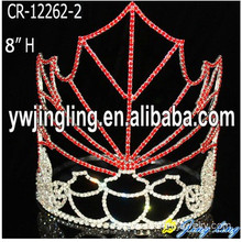 Customized for China Christmas Snowflake Round Crowns, Candy Pageant Crowns, Party Hats. Holiday Pageant Crowns Maple Leaf export to Botswana Factory