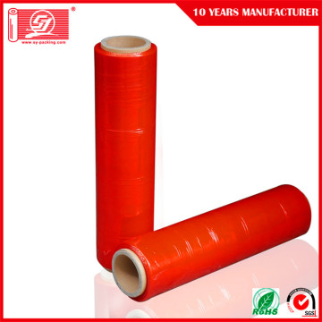 Hand Use Stretch Film With Red Color