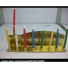 Chinese Supply Sale Purple Colored Chanukah Candle