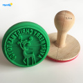 With silicone christmas reindeer cookie stamp