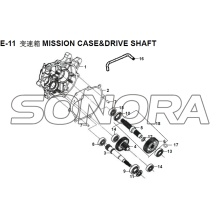 E-11 MISSION CASE&DRIVE SHAFT XS150T-8 CROX For SYM Spare Part Top Quality