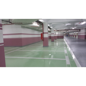 Grass green epoxy anti-static topcoat coating