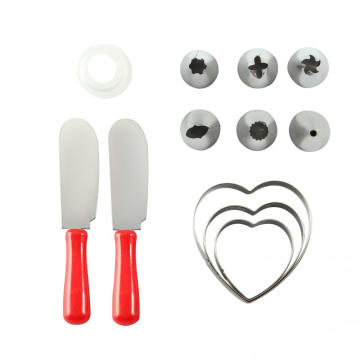 12 pcs stainless steel cake decorating tool set