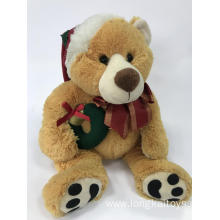 Plush Teddy Bear Brown Christmas