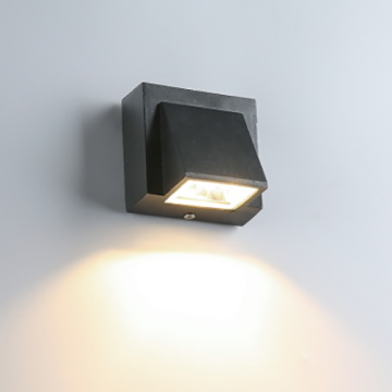 3W Aluminum Black outdoor in wall lights