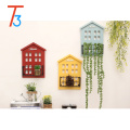 Modern home house shape wooden wall pendant wall storage pendant
