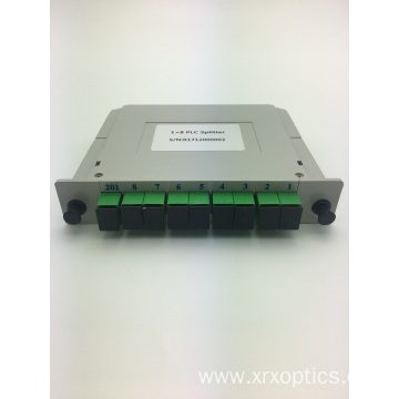 Hot selling attractive price for PLC Optical Splitter PLC SC/APC 1*8 Insert Type Splitter export to Eritrea Importers