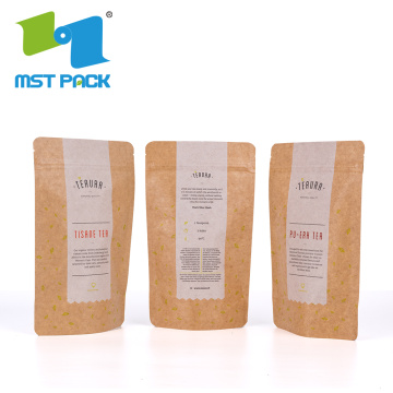 Craft Brown Paper Tea Packaging Bag