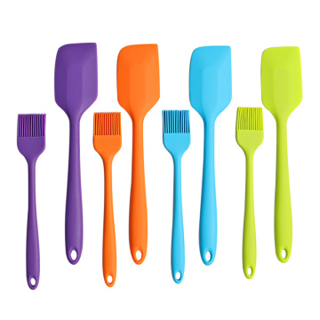2pcs colorful silicone basting brush and spatula set