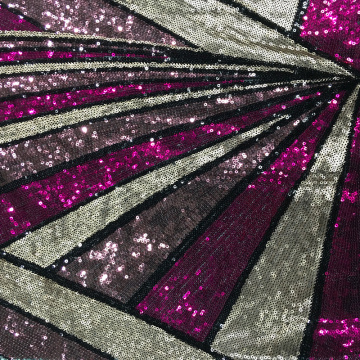 10 Years manufacturer for 6Mm Sequins Embroidery Fabric Fancy Best Selling Multicolor Sequin Embroidery supply to India Supplier