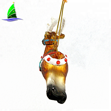 Hot sell Hand Blown deer glass Ornament