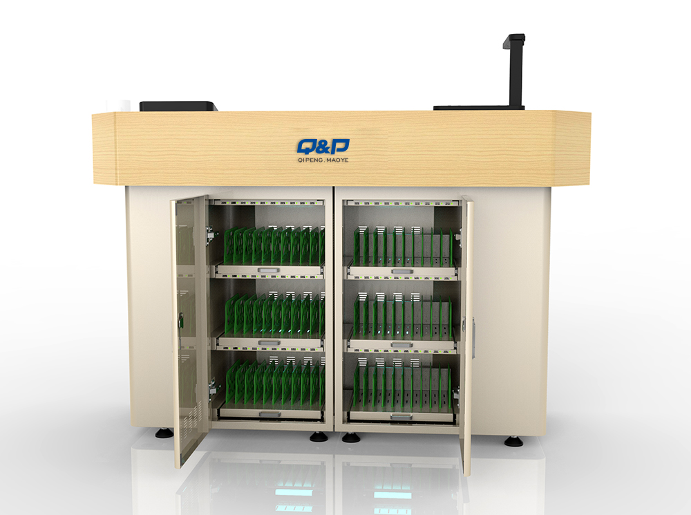Visible Door Charging Cart for Laptops