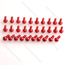 M3 Colored Aluminum Screws by Metric