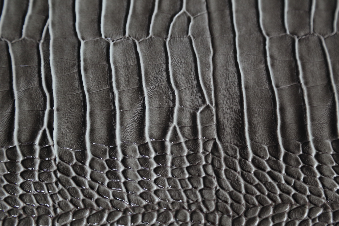Crocodile embossed synthetic leather