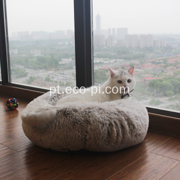 Long Plush Velvet Round Kennel Donuts Pet Bed