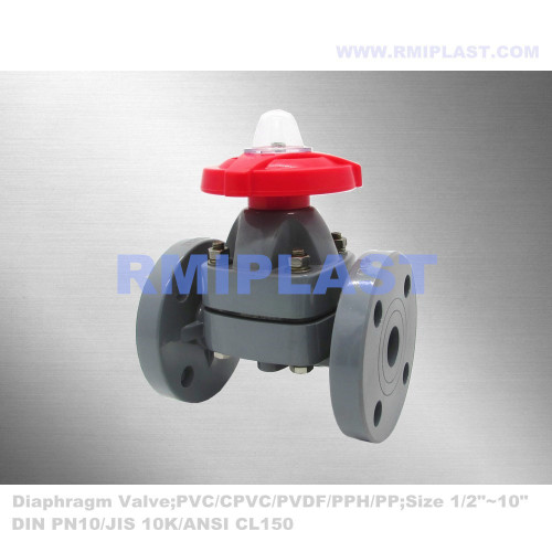 Plastic Diaphragm Valve CPVC for Chlor Alkali Industry