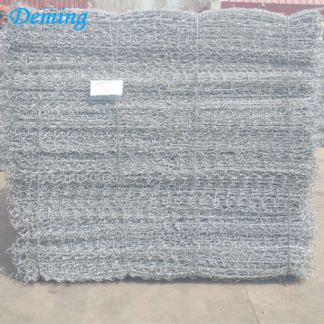 galvanized gabion mesh baskets cages box stone wall