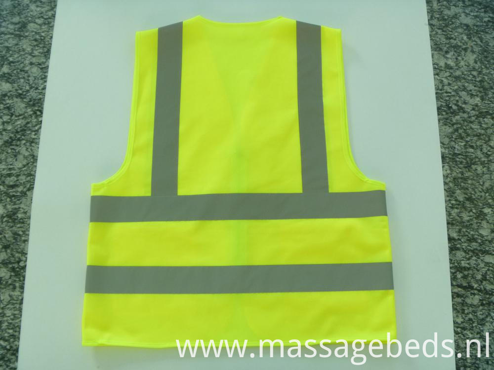 Back of reflective vest