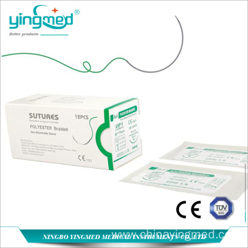 Polyester Braided Surgical Suture with needle