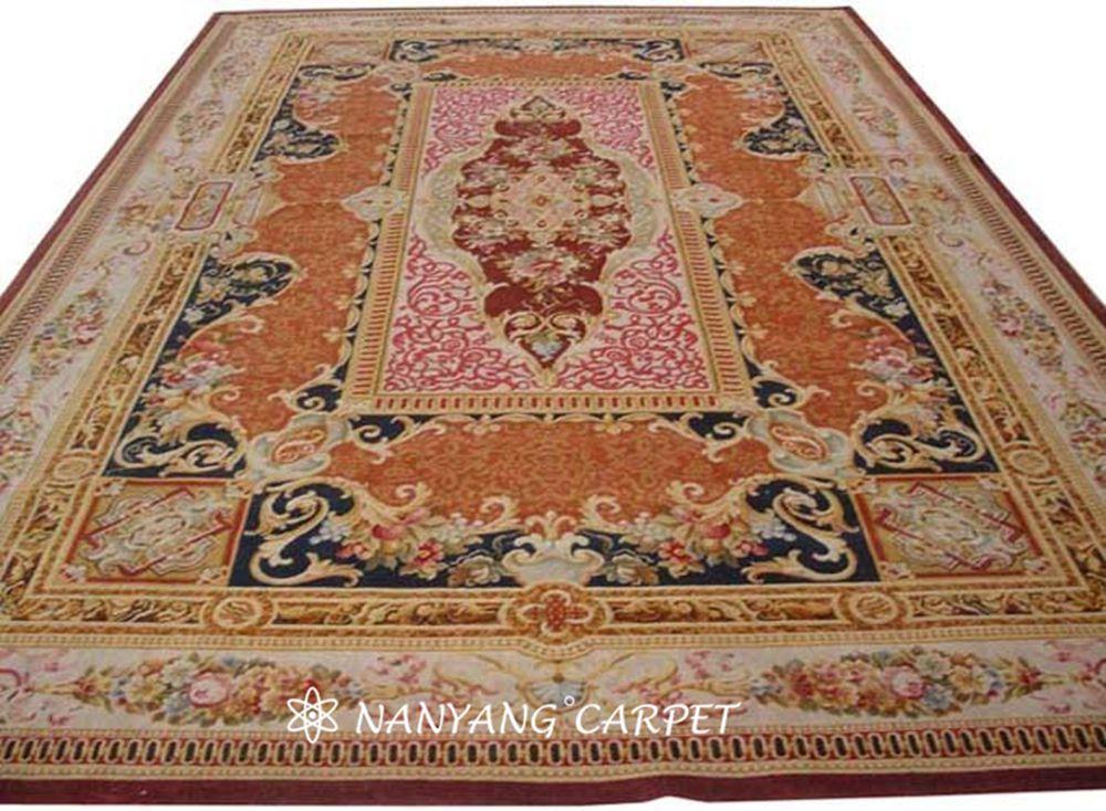 handwoven Savonnerie carpet