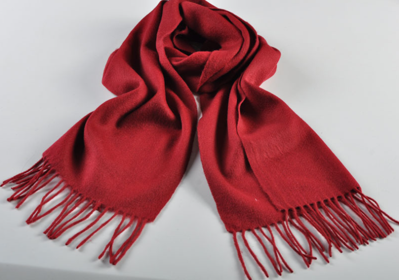 Blank Woven Scarf Red