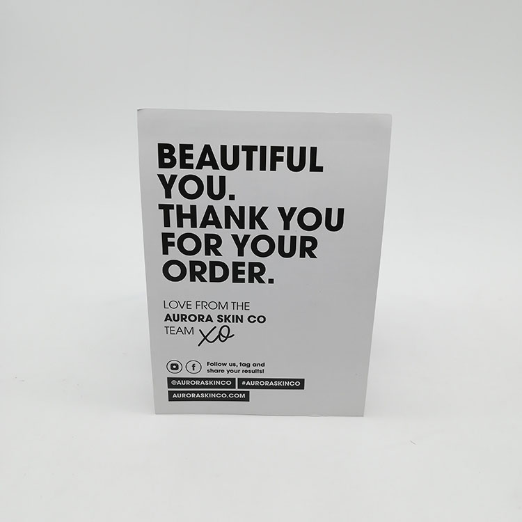 Custom Thanks Card