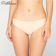 Comfortable seamless solid panty mature woman underwear