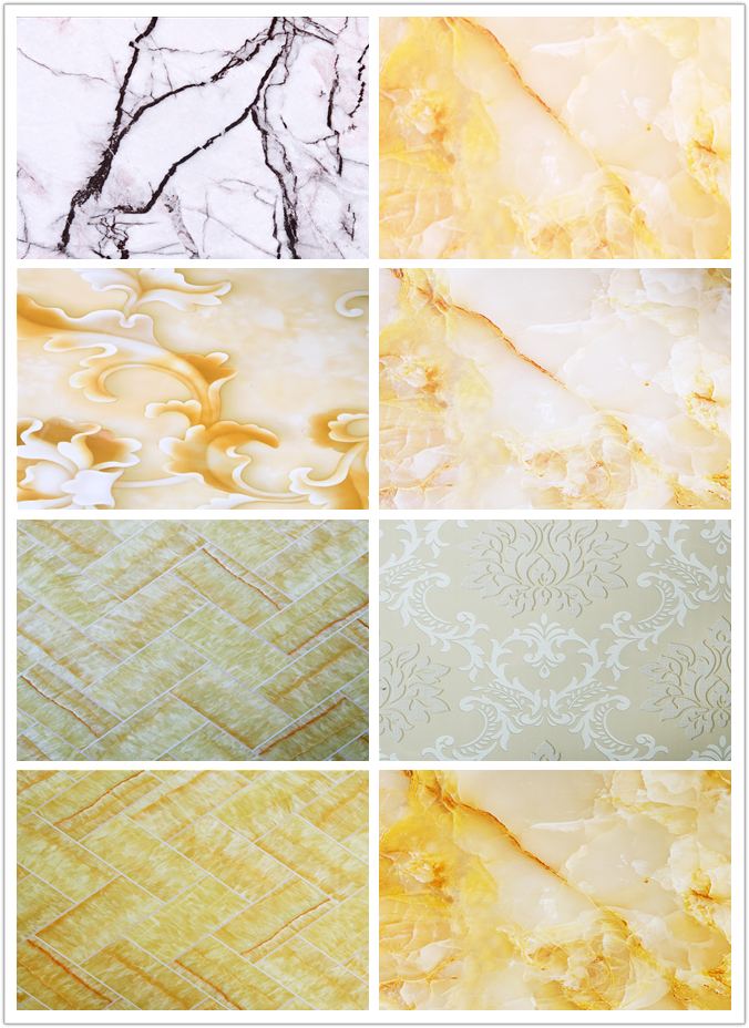 Interior stone marble PVC sheet for interior wall panel