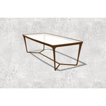 Wooden Leisure Tea Table with Glass