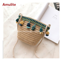 Children Small Beach Shoulder Straw Bag
