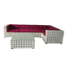 Online Manufacturer for for Outdoor Sectional Sofa Artistic Rattan Sofa Set Garden Furniture export to Italy Factories