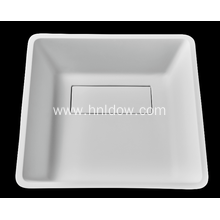 OEM for Freestanding Square Washbasin Pure resin square modern washbasin for cabinet supply to Ghana Supplier