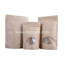 Kraft Paper Upright Bag with Window