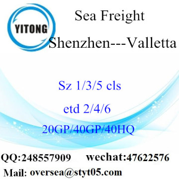Shenzhen Port Sea Freight Shipping To Valletta