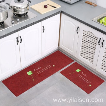 Floor carpet red color fashionable mat