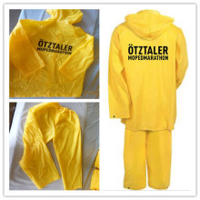 Factory Supply for Reusable PVC Raincoat Yellow waterproof raincoat suit export to South Korea Factory