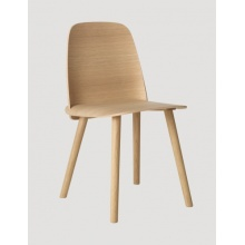 Modern commerical wood nerd dining chair