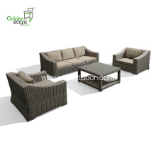 4pcs aluminum hotel project sofa set leisure
