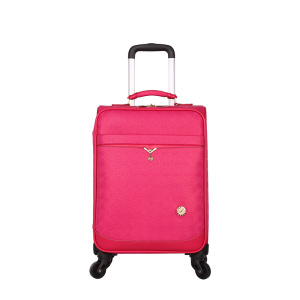 Women girl pink PU travel luggage