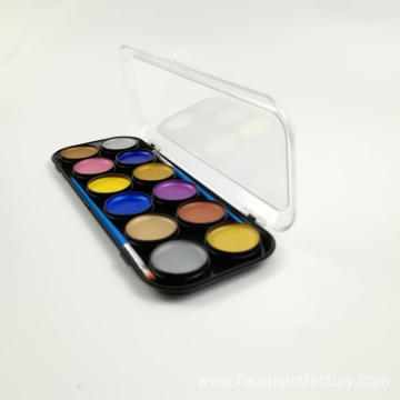 Colorful Waterbased Football fans face paint