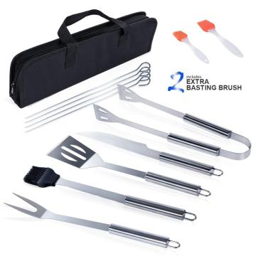 Set of 9 pcs stainless steel BBQ tool