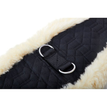 Sheepskin Moon Girth Stainless D ring Quilted Cotton