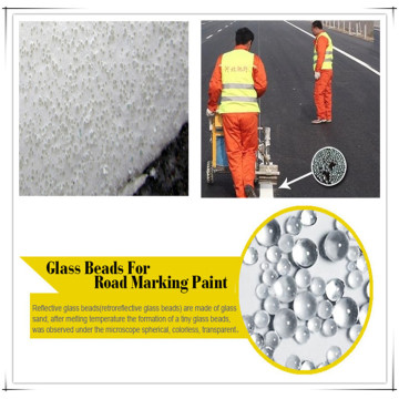 Grade BS6088 Glass Beads Traffic Paint