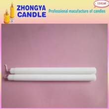 Manufacturing Companies for White Fluted Wax Candle White Color Paraffin Wax Making Fluted Candle supply to Trinidad and Tobago Importers