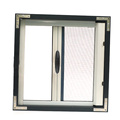 Retractable screen window flash style