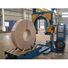 Pneumatic pipe wrapping machine