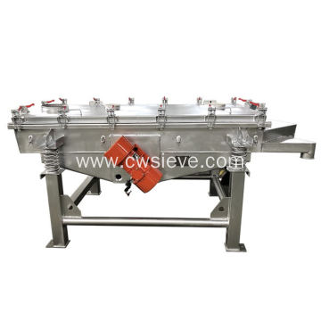Linear vibrating screen used in mining quarry