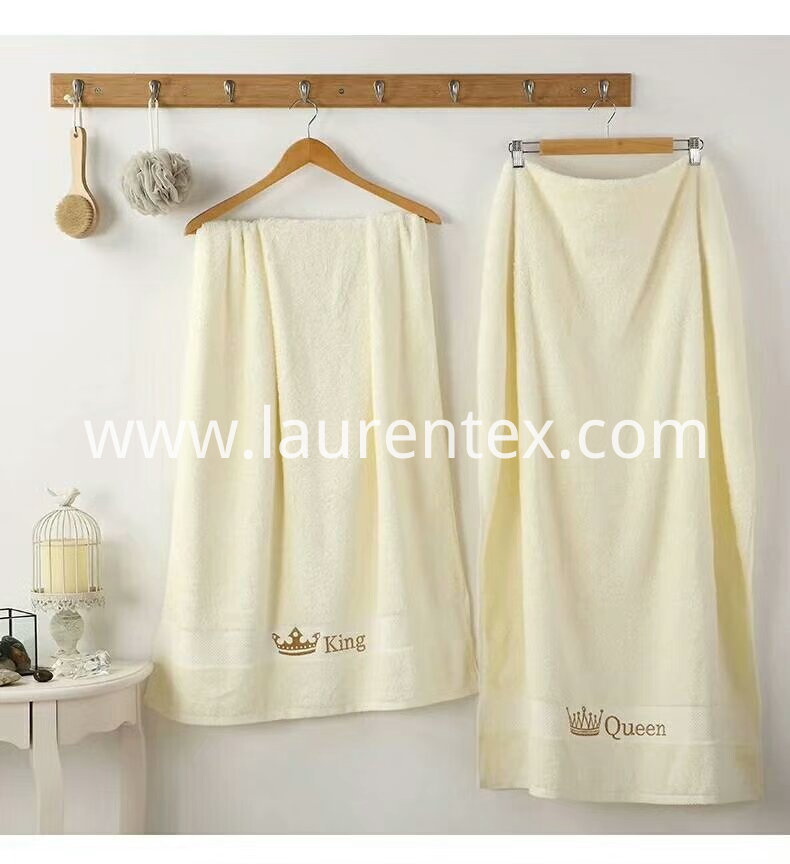 Crown series Cotton embroidered towel 5